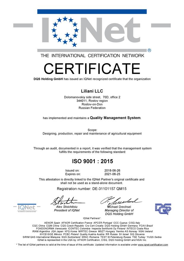 liliani-company-bears-iso-9001-international-quality-management-certificateliliani-company-bears-iso-9001